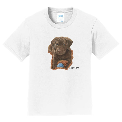 Chocolate Lab Puppy - Kids' Unisex T-Shirt