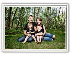 "8 x 12"" White Framed Canvas Prints"