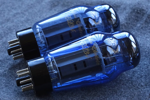 Demo quad: Sophia Electric Grade A Blue Glass EL34-ST Tubes with 30 days warranty