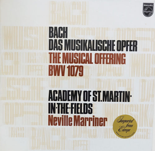 PHI001: Bach -- The Musical Offering (Das Musikalische Opfer)