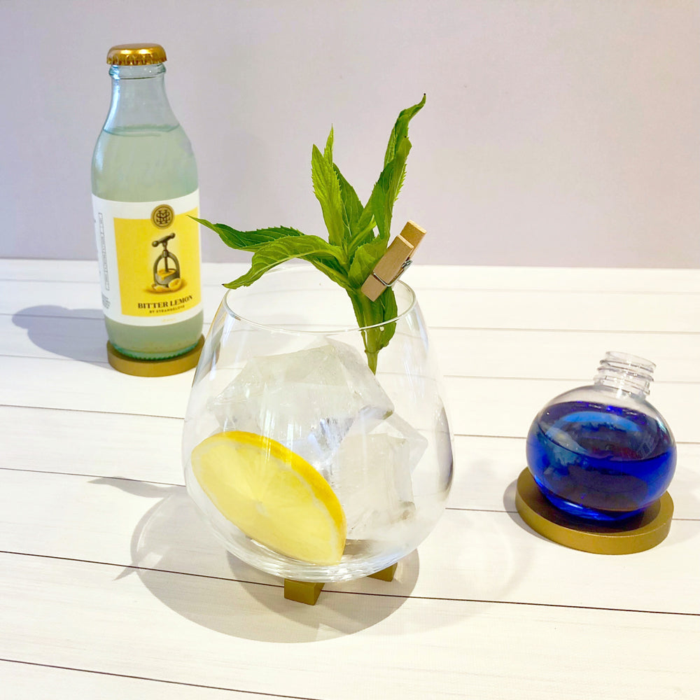 Bitter Lemon and Butterfly Pea Flower Gin