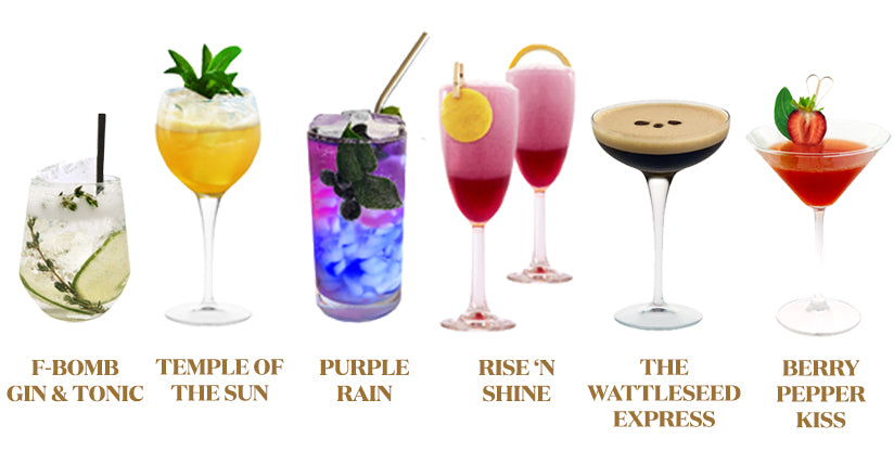 Cocktails Six Unique Flavours infused with Australian Gin