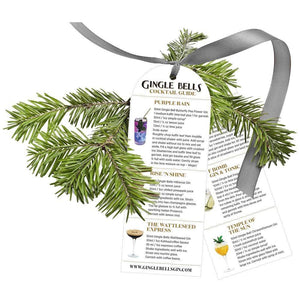 Gin Baubles - 3 SETS Gingle Bells Floral Gin Baubles (10% Off)