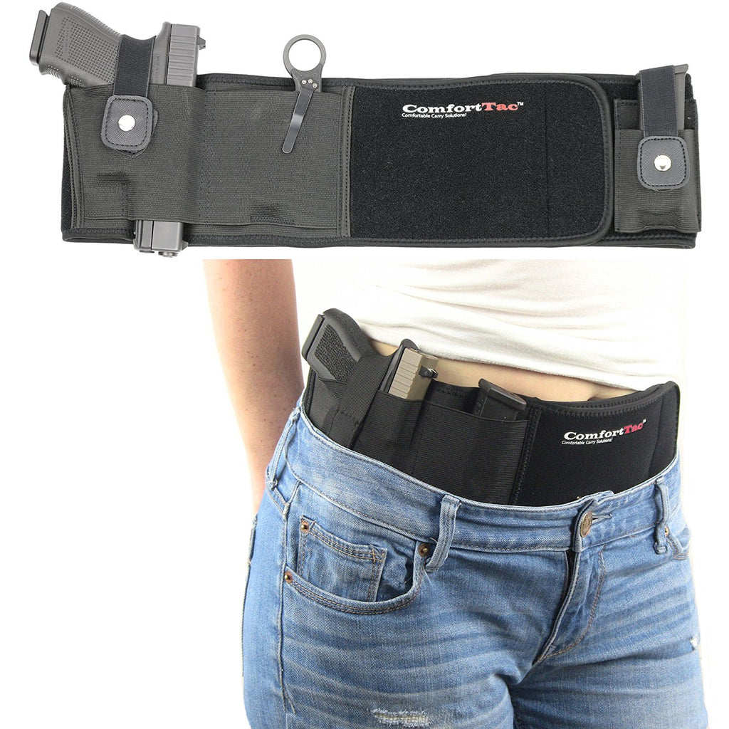 Patriotic Freedom Ultimate Belly Band Holster for Concealed Carry, Black