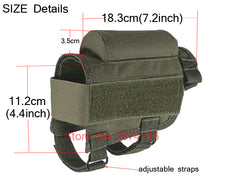 Tactical Adjustable Buttstock Cheek Rest Shooting Pad Ammo case Cartridges Holder Pouch