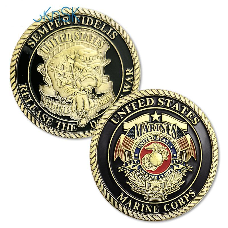 New U.S.Marine Corps Release The Dogs Of War Military Challenge Coin