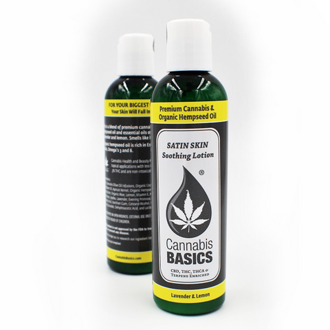 Cannabis Basics Satin Skin Soothing Lotion; Lavender & Lemon
