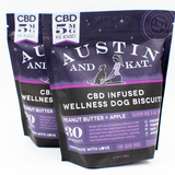 Austin & Kat CBD Infused Wellness Dog Biscuits 2 mg, 5 mg or 10 mg