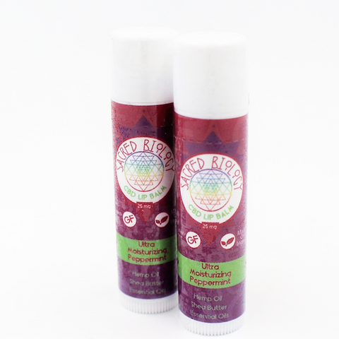 Sacred Biology Peppermint CBD Lip Balm