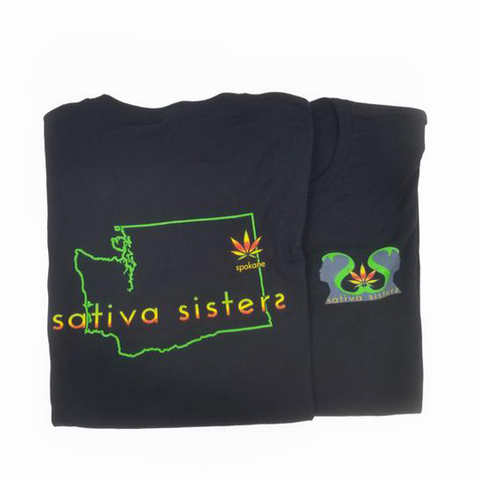 Sativa Sisters UniSex Black T-Shirt