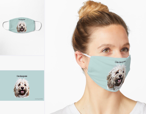 Cockapoo Face Masks on Redbubble