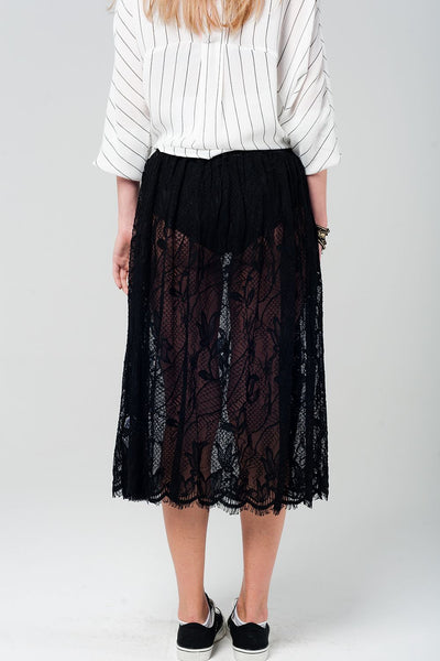Hartley Black Lace Skirt