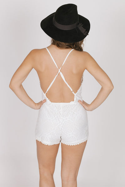 Kayla White Romantic Romper