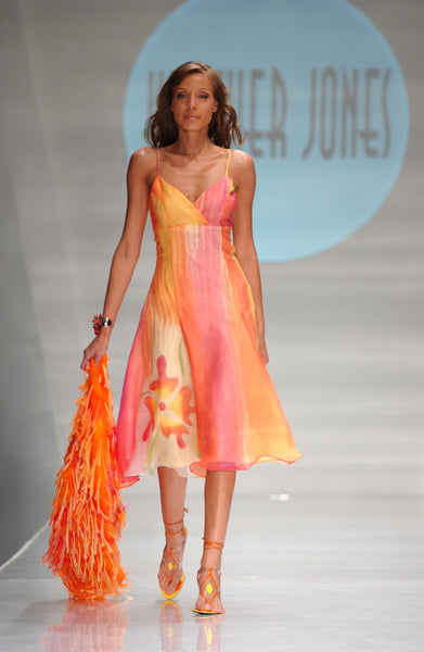 Sunset Abstract Orchid Dress