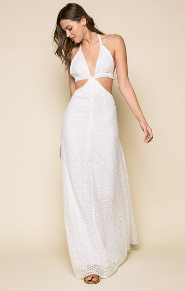Hailey White Cutout Dress