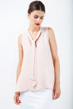 Melina Old Rose Tied Top