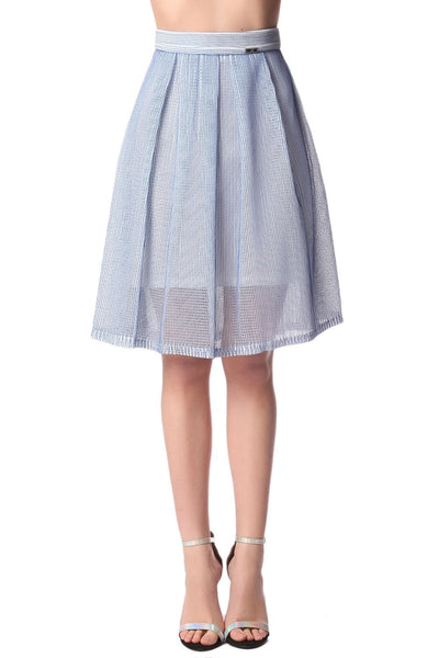 Hartley Blue Mesh Skirt