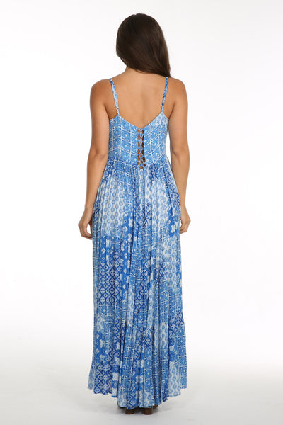Tania Blue Boho Dress