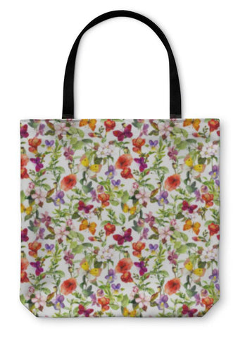 Flowers Meadow Tote Bag