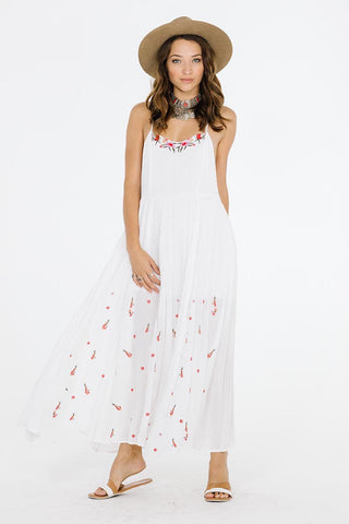 Celia White Maxi Dress