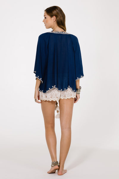 Hana Holidays Beaded Top