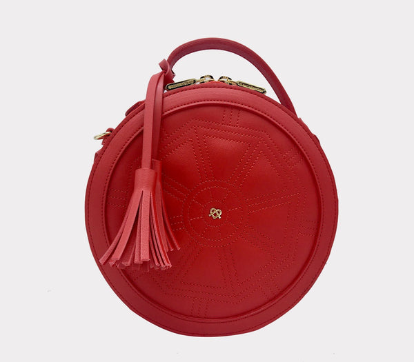 Rotunda Red Crossbody Bag
