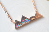 Multicolor Mountain Pressed Flowers Necklace