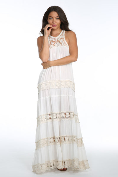 Tania White Crochet Dress