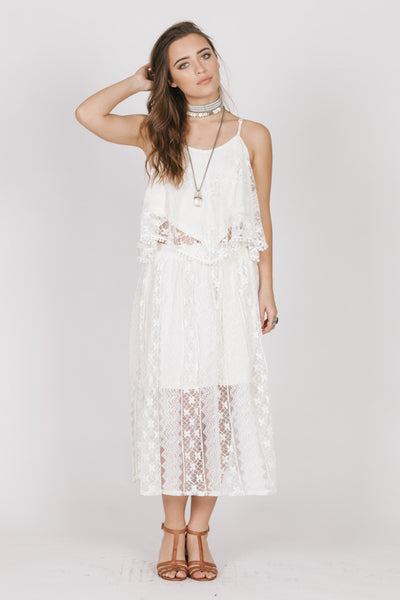 Hartley White Lace Skirt