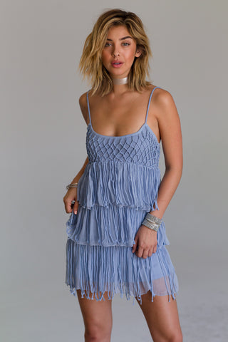 Camila Lavender Fringe Dress