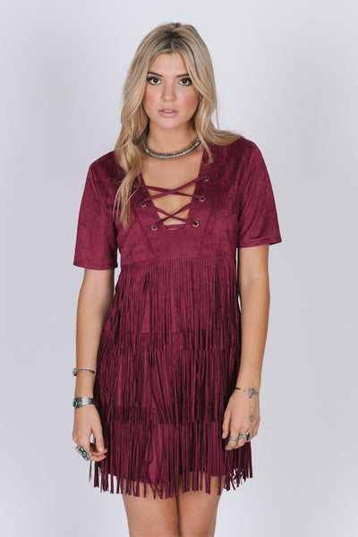 Madison Wine Elegant Dress