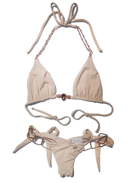 Tessa Nude Triangle Top & Tie Side Bottom