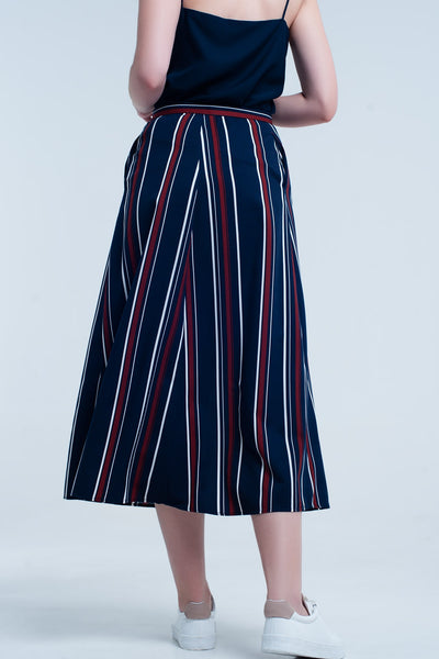 Hartley Navy Casual Skirt