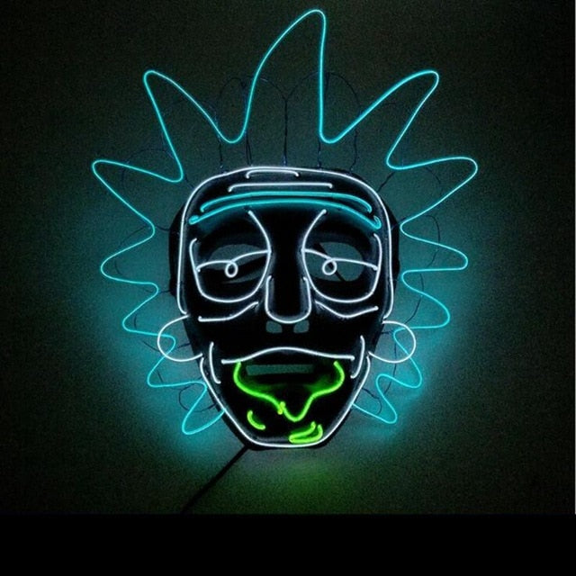 Rick & Morty LED Mask