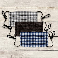 Cotton Clouds Face Masks 3 Pack - Plaid