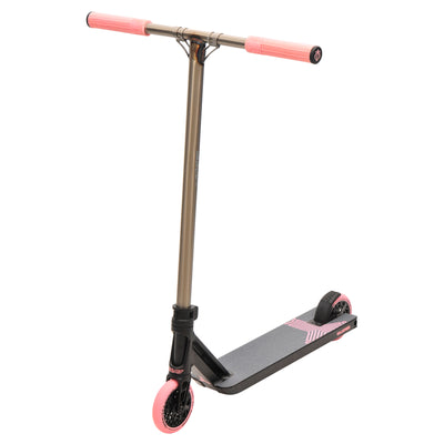 Triad Racketeer Stunt Scooter - Satin Black/Raw/Pastel Pink