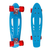 Karnage Retro Skateboard - Blue Deck / Red Wheels