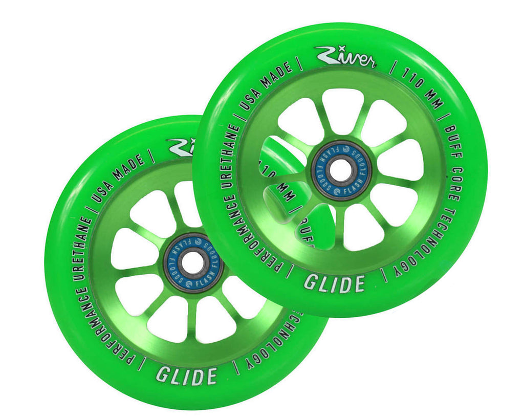 River Glide Emerald Pro Scooter Wheels 2-Pack
