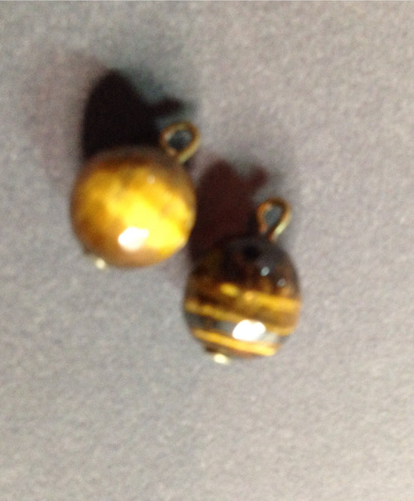 Tiger Eye Faceted Stone Dangles (for interchangeable earring system) 13102