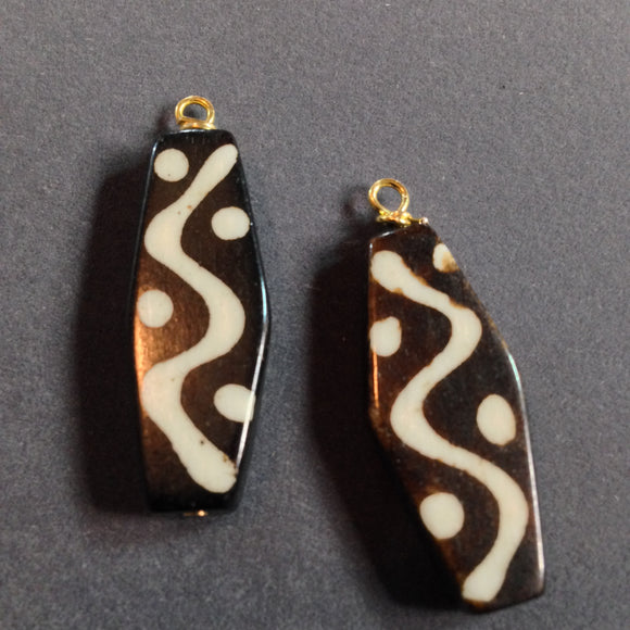 African Look Jasper Stone Dangles (for interchangeable earring system)
