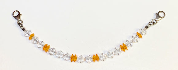 Orange and Clear Swarovski Crystal Watchband (for interchangeable watchband system)