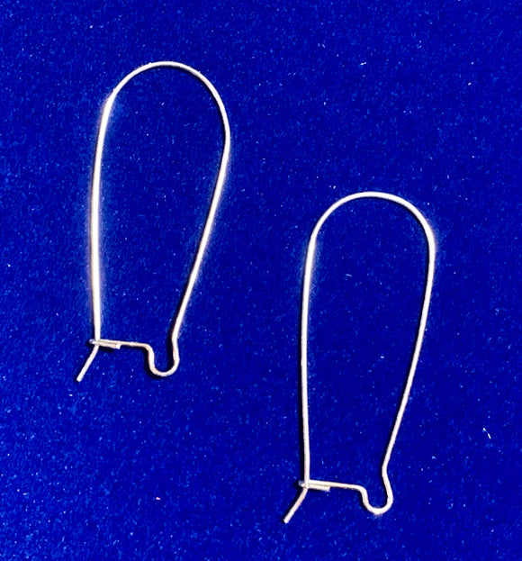 Sterling Silver Earwires (for Interchangeable earring system) 14185