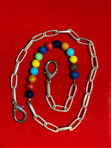 Steel and Beaded Men's Pocket Chain