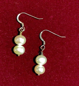 Pearl and Sterling Silver Filled Earrings