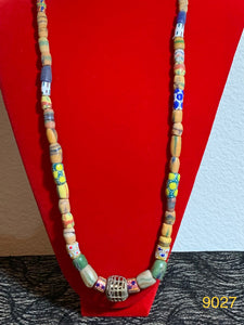 "African Trade Bead (recycled glass) 32"" Necklace 19027"