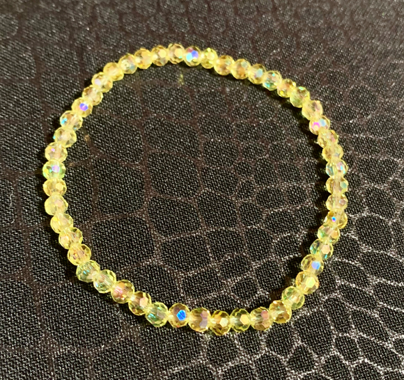 Yellow Crystal Elastic Bracelet  #19079