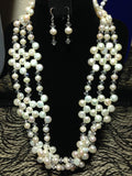 White Pearl Necklace   #20029