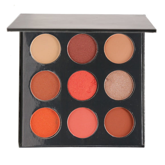 No Label 9 colors Eyeshadow palette (Black)