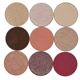 No Label 9 colors Eyeshadow palette (White)
