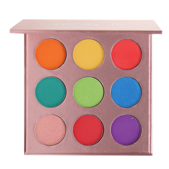 No Label 9 colors Eyeshadow palette (Rose gold)